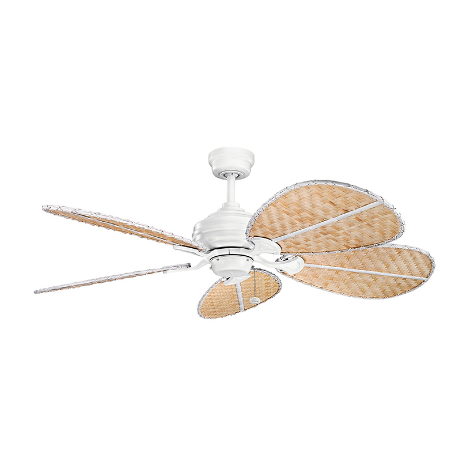kichler klever natural bamboo oval blade set ceiling fan blades outdoor fans 6