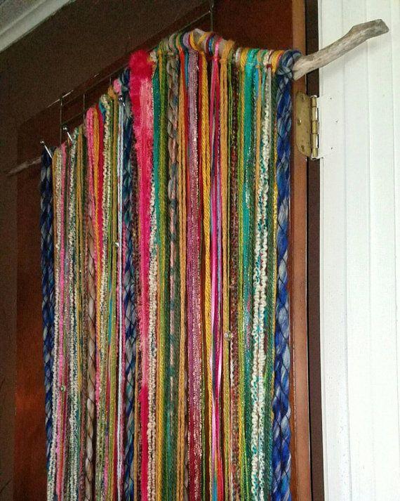 Cortina de puerta madera bohemio gitano boho cortina for Cortinas de madera para puertas