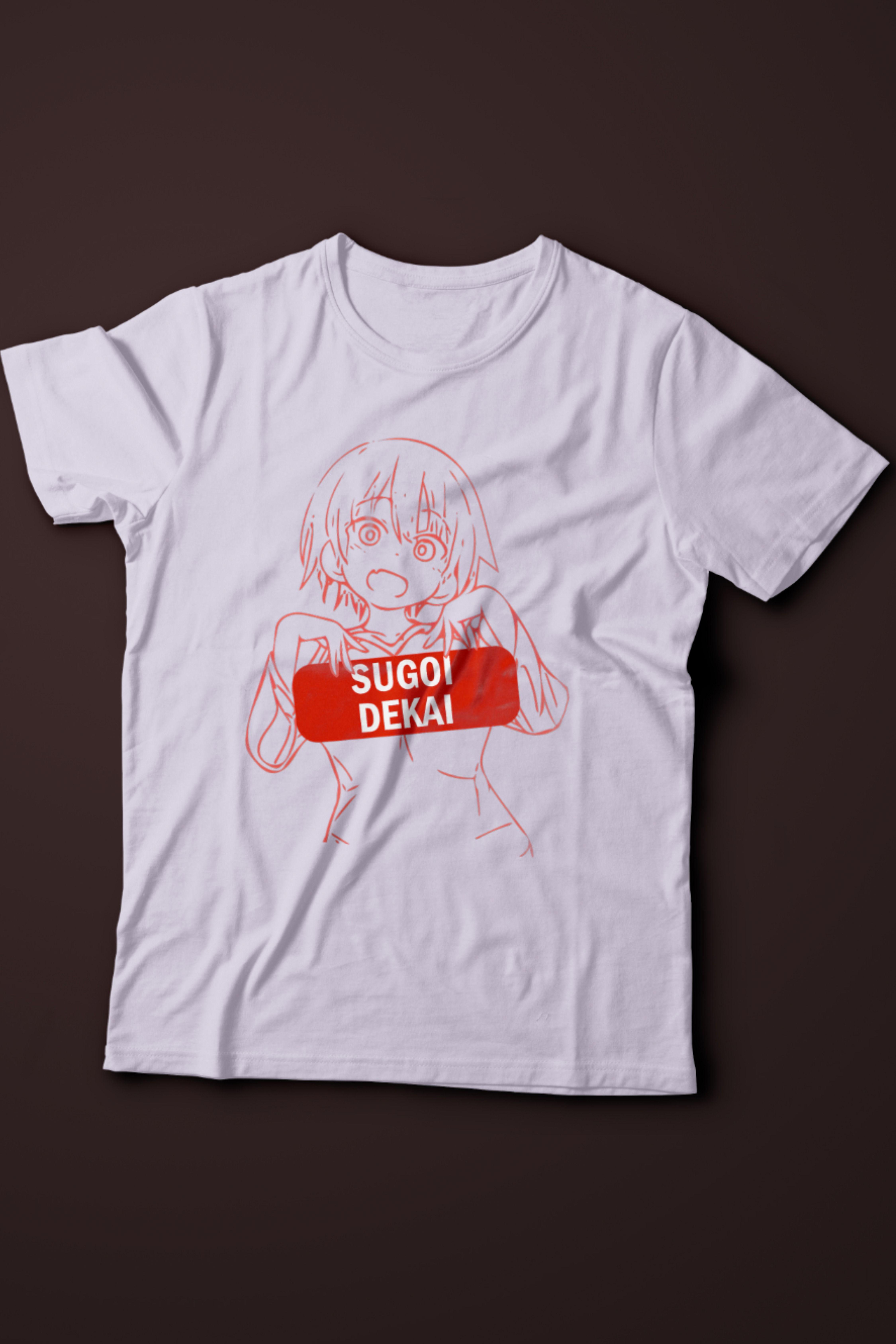 Sugoi Dekai Anime TShirt from Uzakichan Wants to Hang