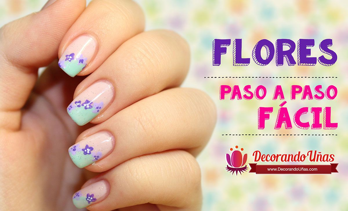 Decoración de uñas fácil – Flores – Video tutorial paso a paso ...
