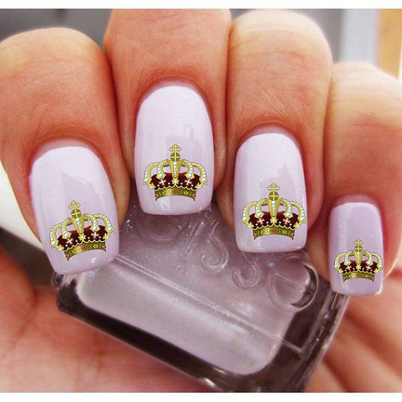 royal queen's crown nail decals