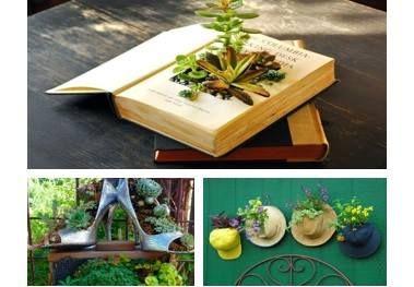 d coration de jardin avec de la r cup ration poubelle pouvoirs et objet. Black Bedroom Furniture Sets. Home Design Ideas