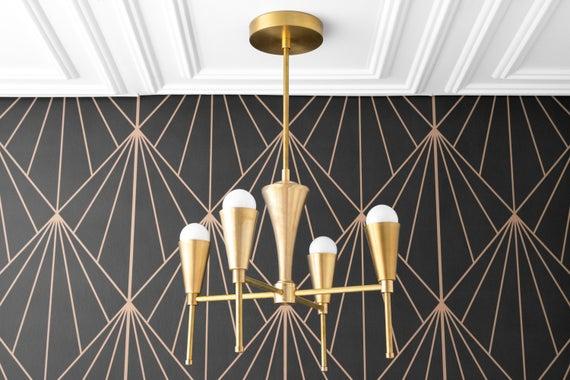 art deco lighting modern chandelier foyer