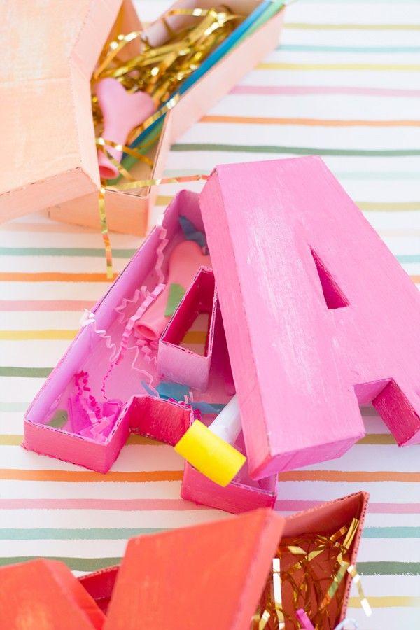 DIY Letter Shaped Boxes | DIY We Love | Diy letters, DIY Gifts, DIY
