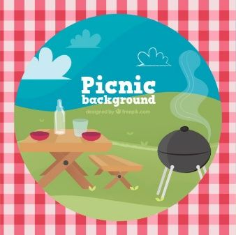 Background of picnic scene