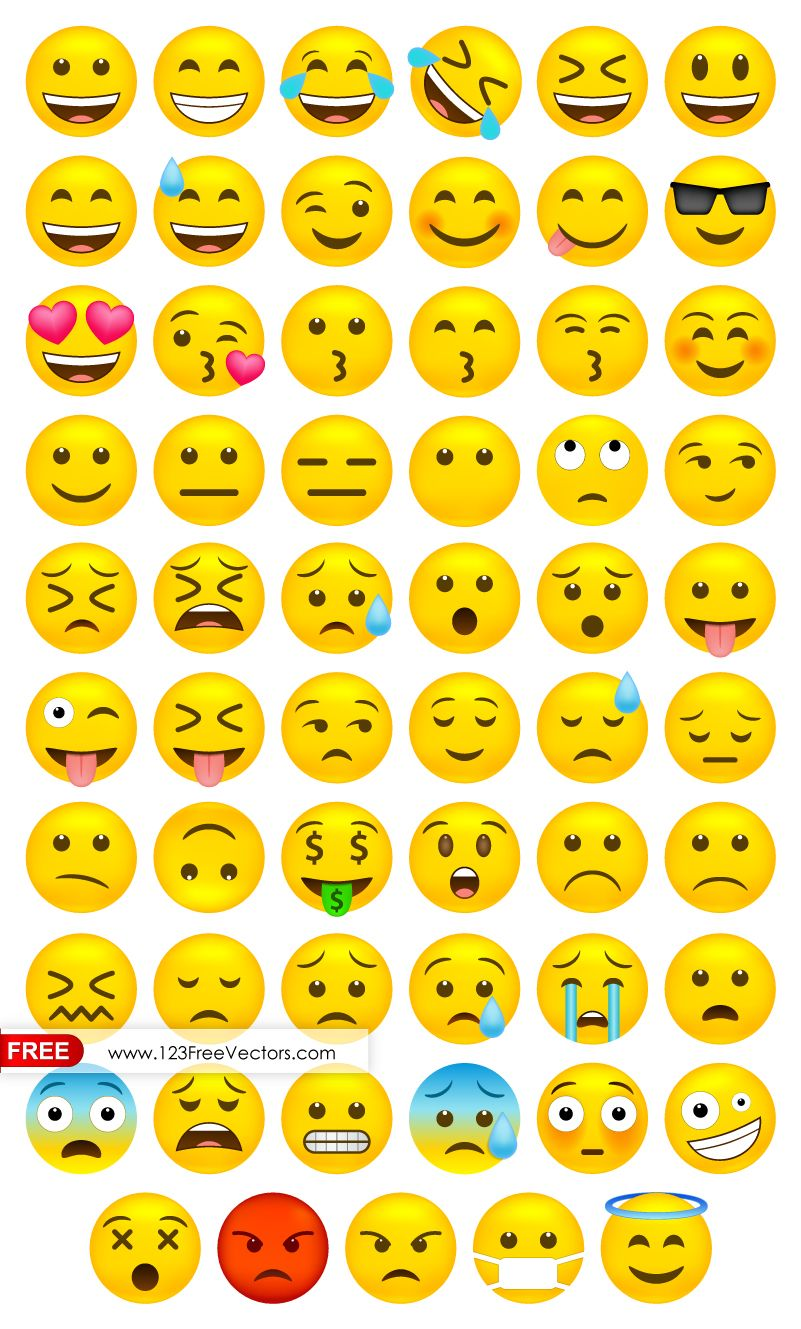 Whatsapp Emoji Vector Free Download Vector Free Emoji Images Vector Free Download