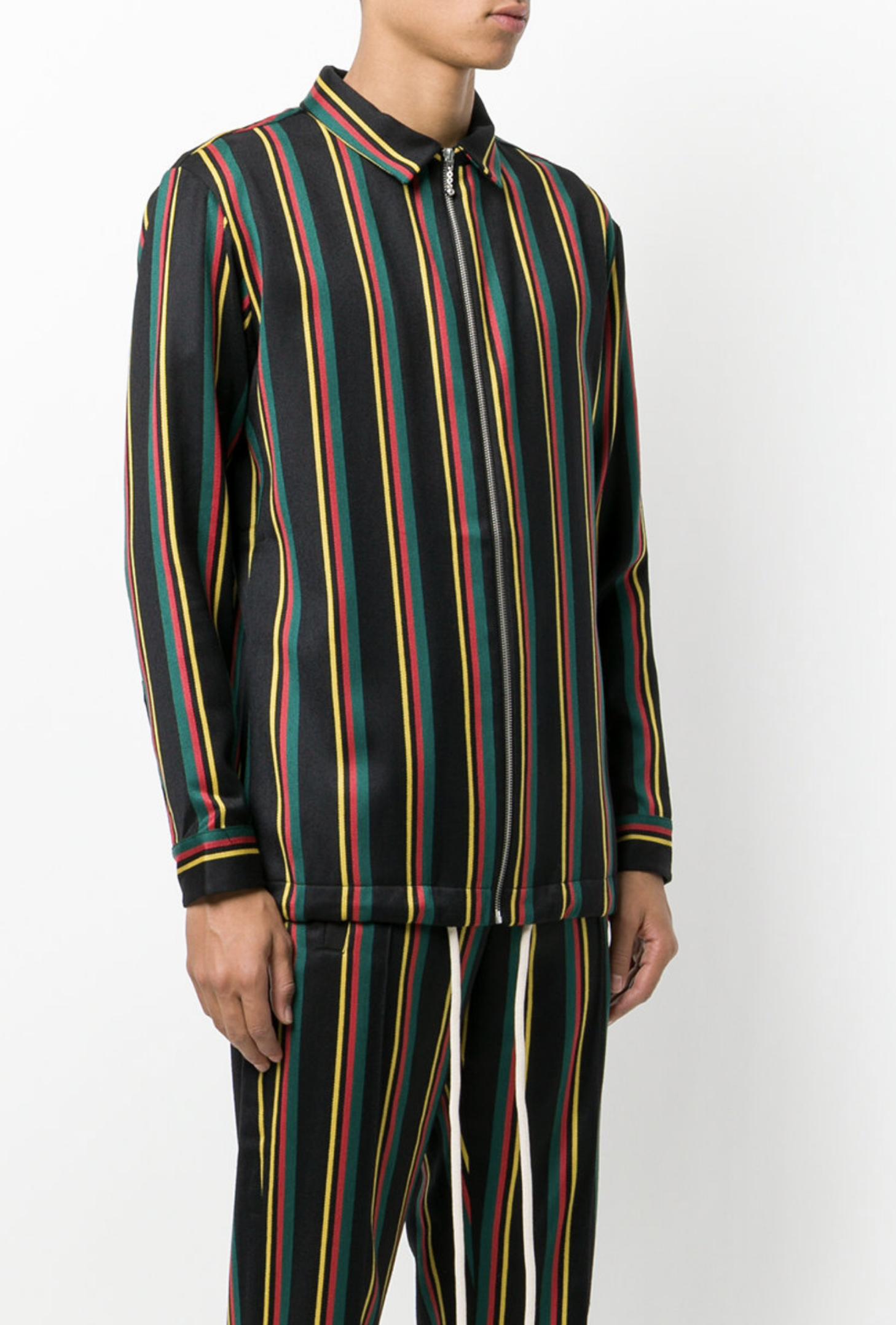 89255a696f5 PALM ANGELS zipped stripe jacket from Farfetch (men