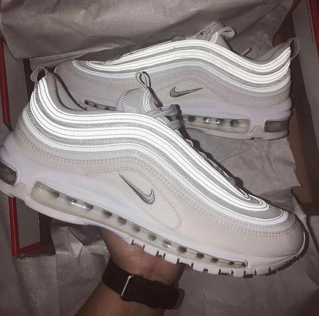 Air Max 97 Triple White White Bullets Recent Heat Pure White