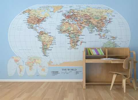 Muffin mani world map mural wallpaper online building code and muffin mani world map mural gumiabroncs Images