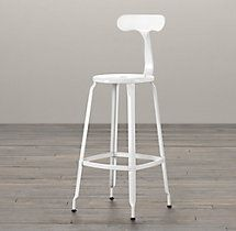 French T-Back Stool