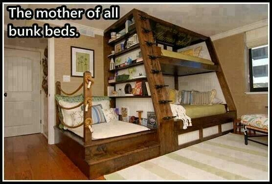 I would LOVE this. Incredible bunk beds.