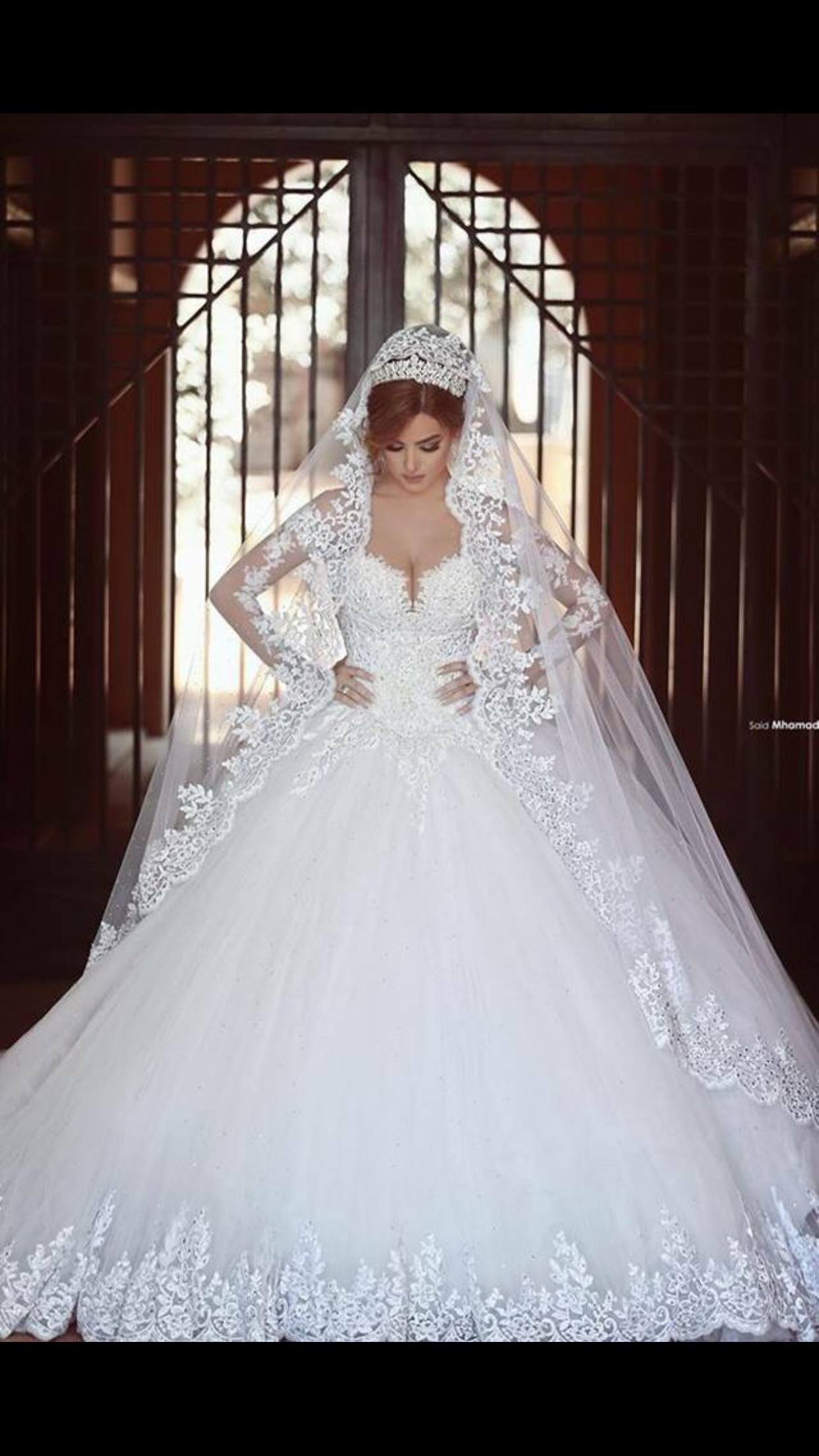 White lace wedding dress with sleeves  Perfection  Dream Wedding  Pinterest  Dream wedding and Wedding