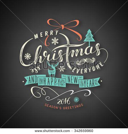 Christmas lettering illustration