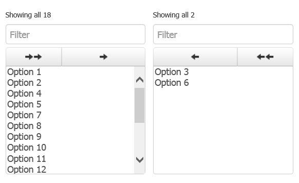 Responsive jQuery Dual Select Boxes For Bootstrap 4 - Bootstrap Dual