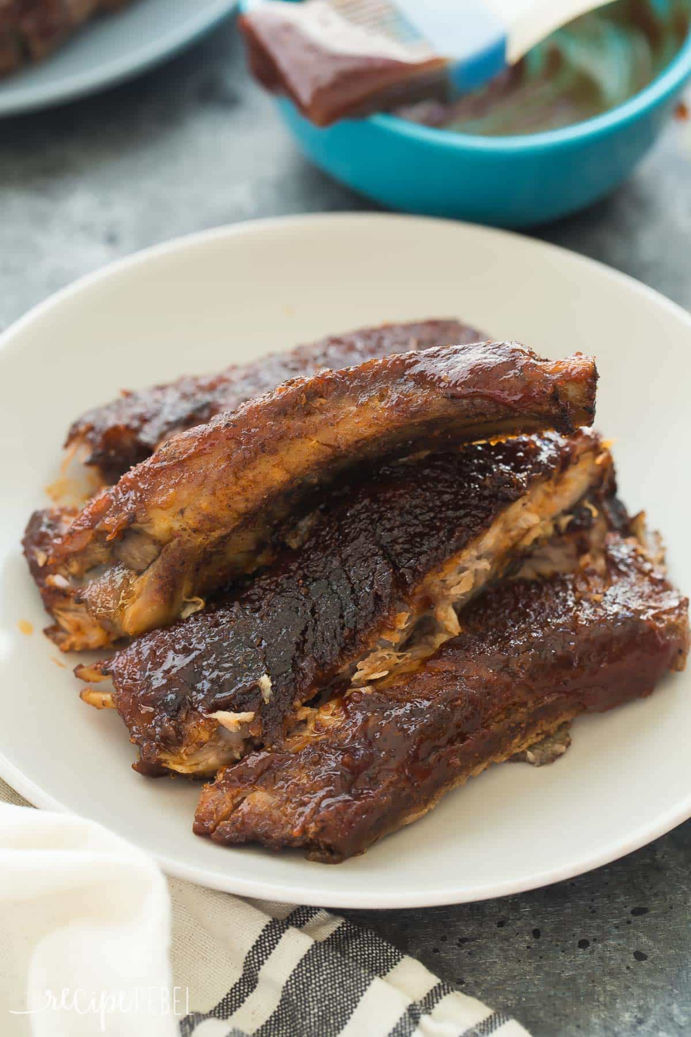 These Easy Slow Cooker BBQ Ribs couldn't be simpler! They
