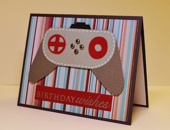 Masculine Handmade Birthday Card Video Game Geek Birthday Xbox – Video Birthday Cards for Kids