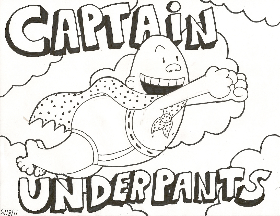 cool captain underpants coloring pages printable for kids