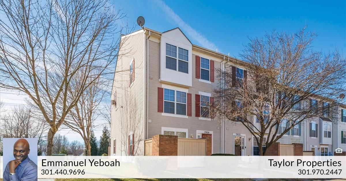 Emmanuel Yeboah Of Taylor Properties Just Listed 7920 Otter Cove Court Gaithersburg Md 20886 Laundry In Bathroom Laundry Room Bathroom Energy Efficient Washer