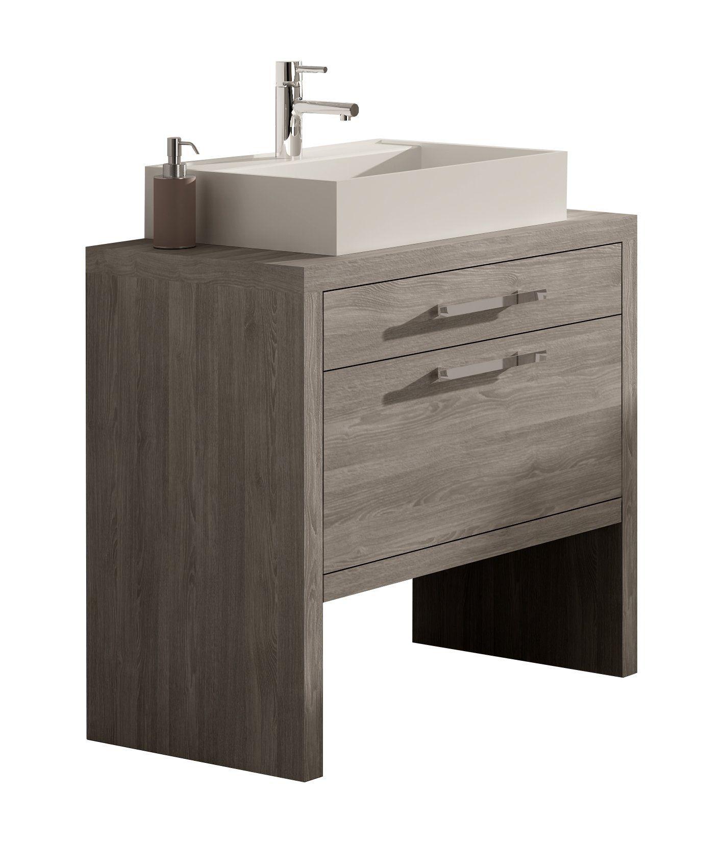 Montreal 32 Inch Bathroom Vanity Cabinet Set Joplin Oak Thermo