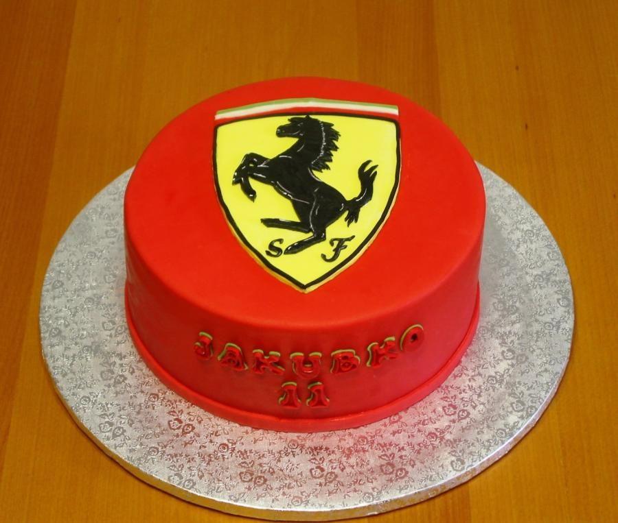 Peachy Ferrari Birthday Cake By Monikine Torty Cakes By Monika Funny Birthday Cards Online Ioscodamsfinfo