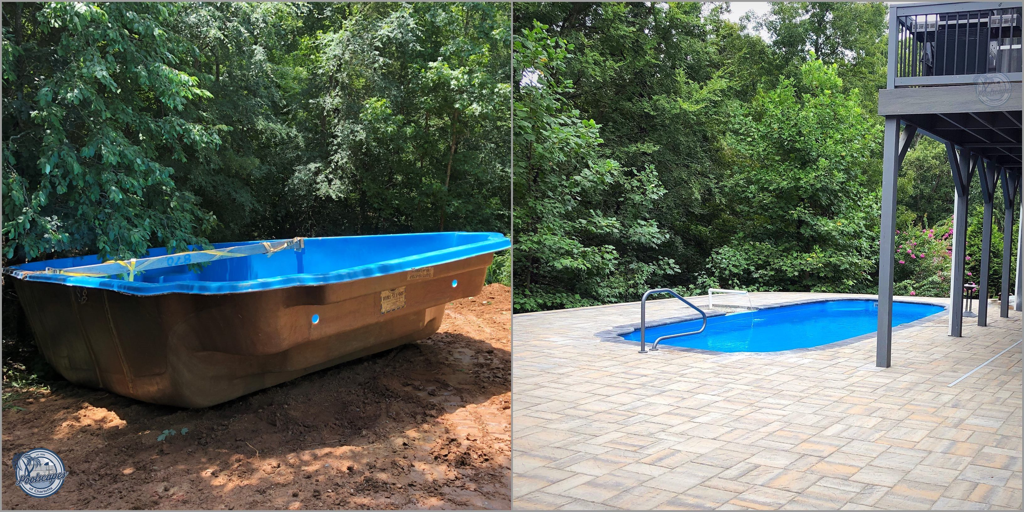 Pin On Backyard Transformation Before And After Pool Construction