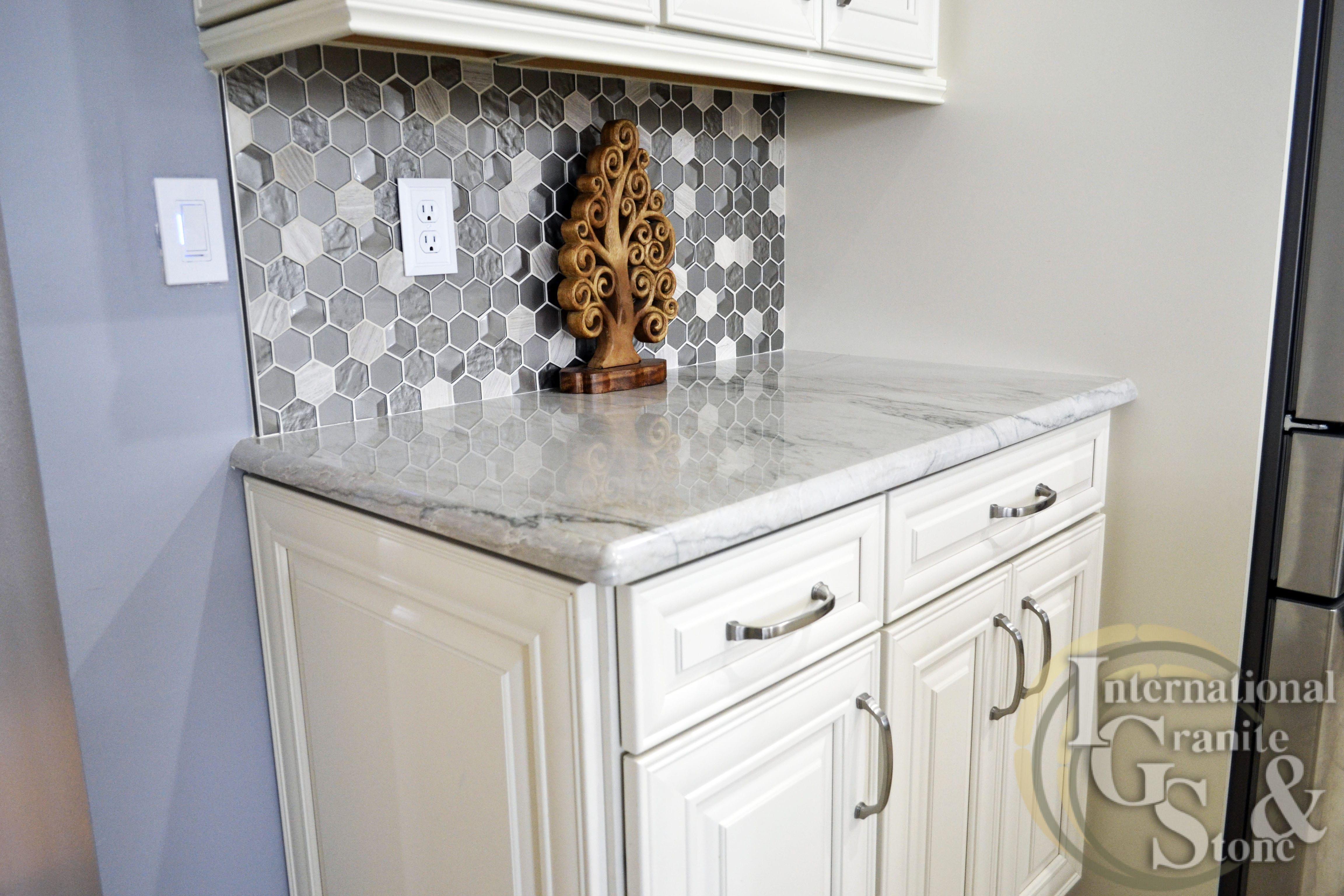 Check out this Recent Countertop White Quartzite Kitchen Countertop