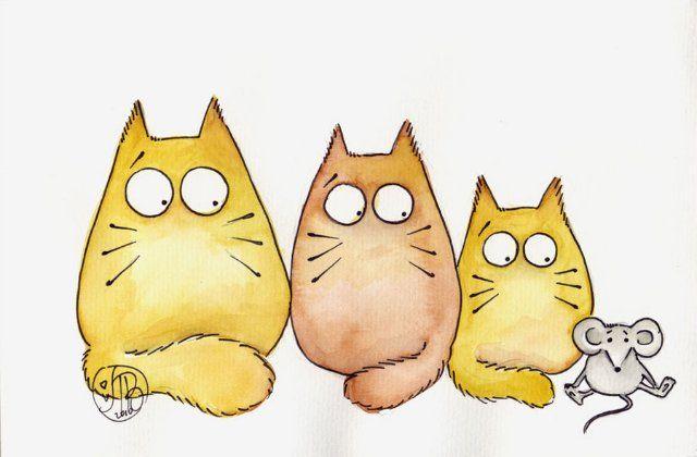 Нарисованные картинки с котами смешные с надписями, слова смыслом