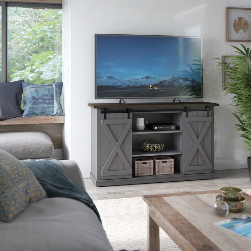 Three Posts Lorraine Tv Stand For Tvs Up To 60 Reviews Wayfair Ca In 2020 Wood Panel Walls Rustic Tv Stand Apartment Living