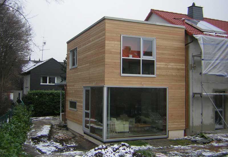 holzanbau energetische sanierung eines reihenhauses bauen pinterest holzanbau. Black Bedroom Furniture Sets. Home Design Ideas
