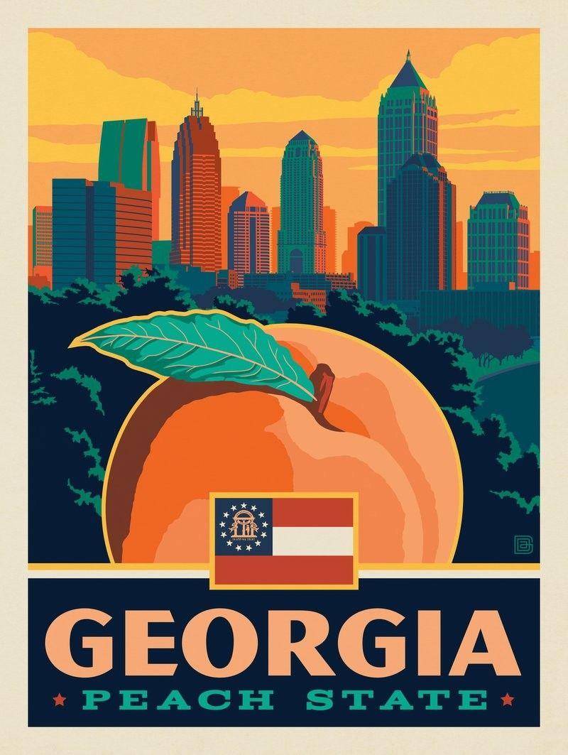 Anderson Design Group American State Pride Georgia State Pride
