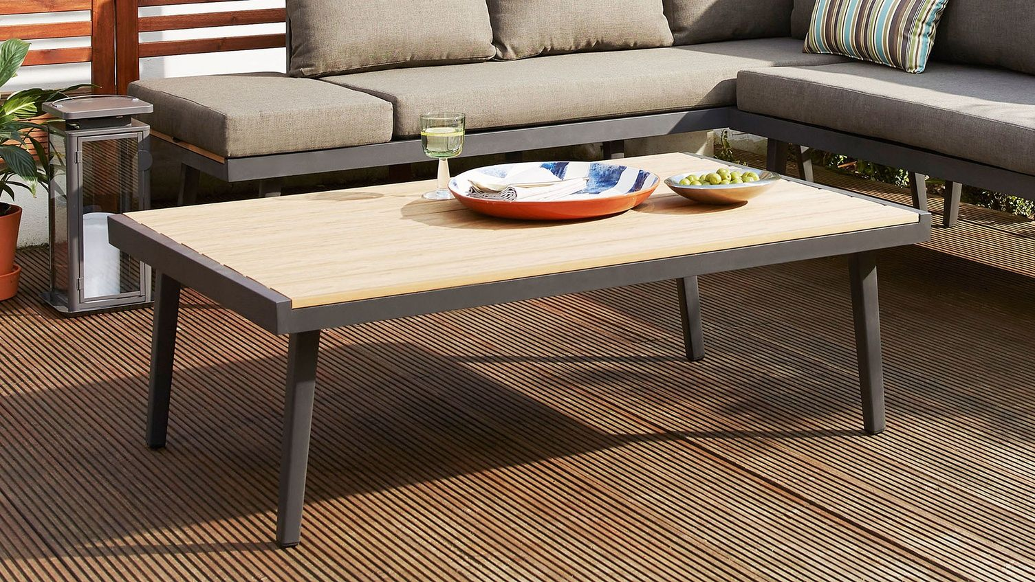 Palermo Grey Outdoor Coffee Table Coffee Table Contemporary Outdoor Coffee Tables Garden Coffee Table