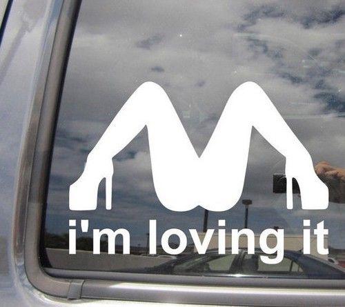 Im Loving It Funny JDM Mcdonalds Parody Window Decal Http - Custom vinyl decals for cars jdmdope thumbs up funny jdm custom decal sticker car decals