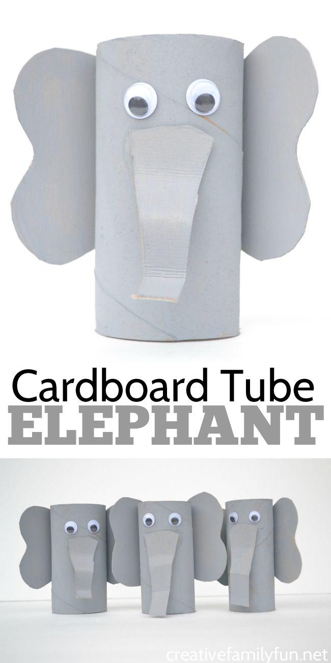 Photo of Cardboard Tube Elephant Craft