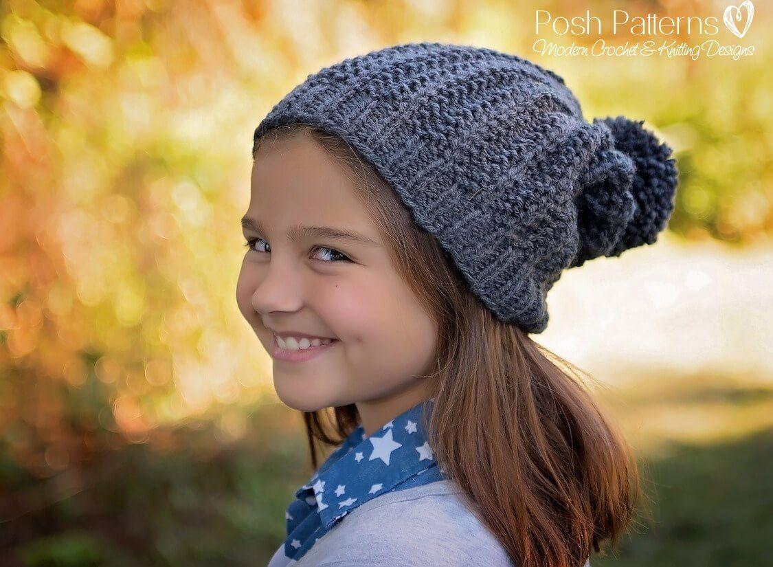 Slouchy Hat Free Knitting Pattern   Slouchy hat, Knitting patterns ...