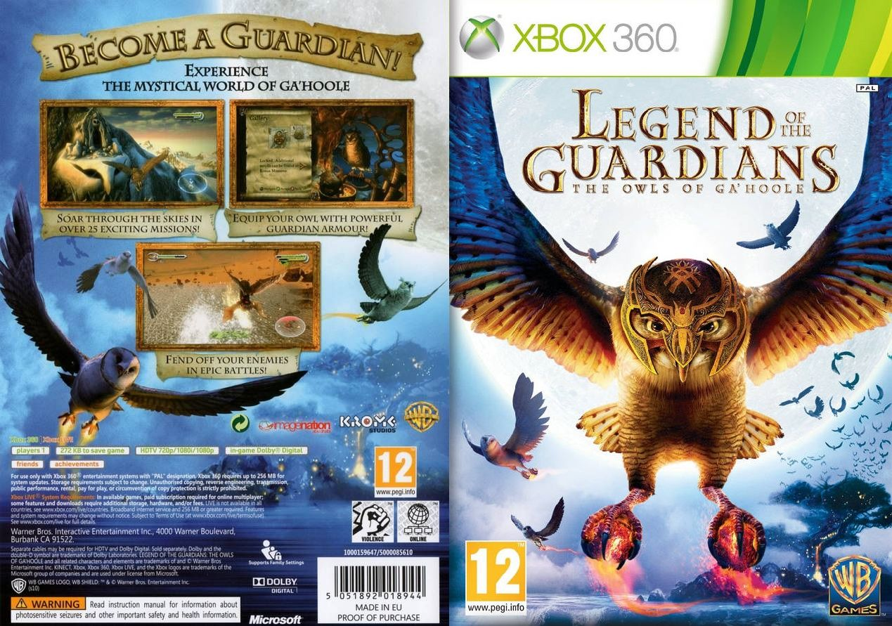 Legend of the guardians xbox 360 pal europe worlds of fantasy legend of the guardians xbox 360 pal europe fandeluxe Gallery