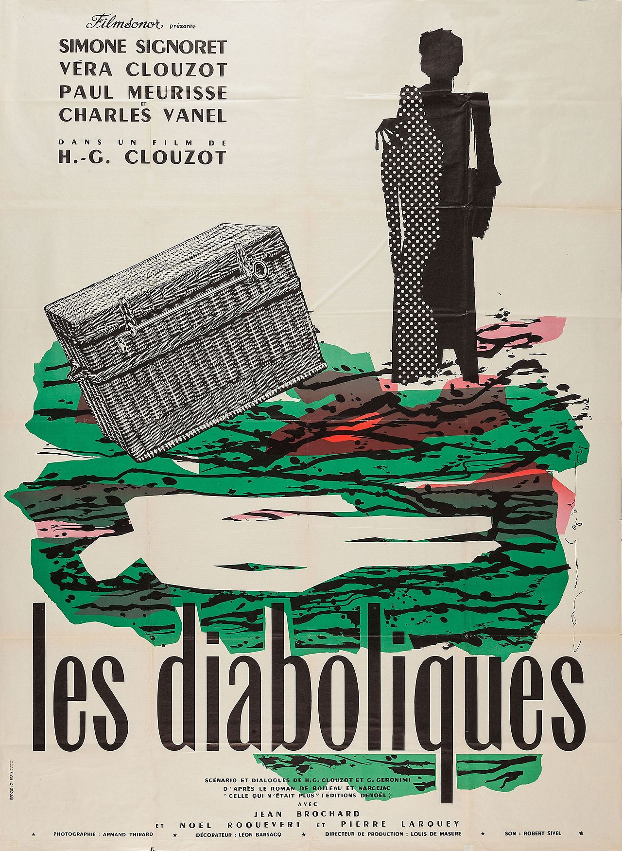"""Les Diaboliques"" (1955). I forget where I saw this film the first time, but it's unforgettable. Must see."
