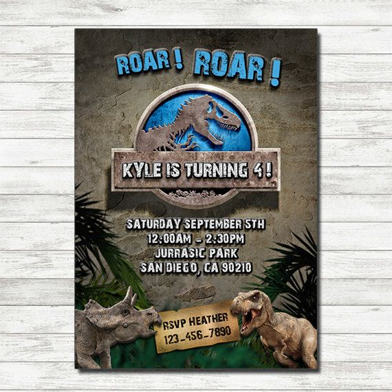 Jurassic World Birthday Invitation Jurassic World Printable