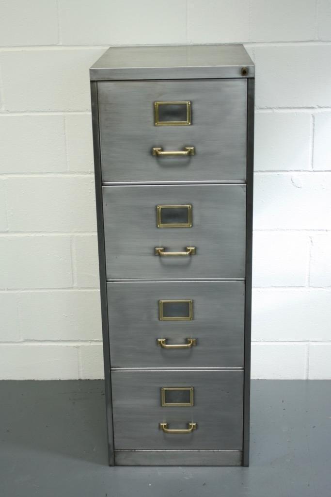 Vintage Industrial Stripped Metal Filing Cabinet Chest Drawers Midcentury 1667 Filing Cabinet Metal Filing Cabinet Painting Metal Cabinets