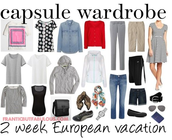 30566954f425 Capsule wardrobe  2-week summer European vacation - Working mom style  advice  Frantic But Fabulous