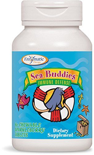 Enzymatic Therapy Sea Buddies Immune Defense Sparkleberry Chewable Tablets 60 Count -- You can find more details by visiting the image link. Note: It's an affiliate link to Amazon.