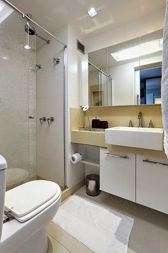 20 banheiros e lavabos pequenos e claros Bathroom vanities - lavabos pequeos