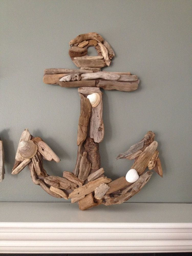 Driftwood Anchor- Whale and Initial #craftstomakeandsell