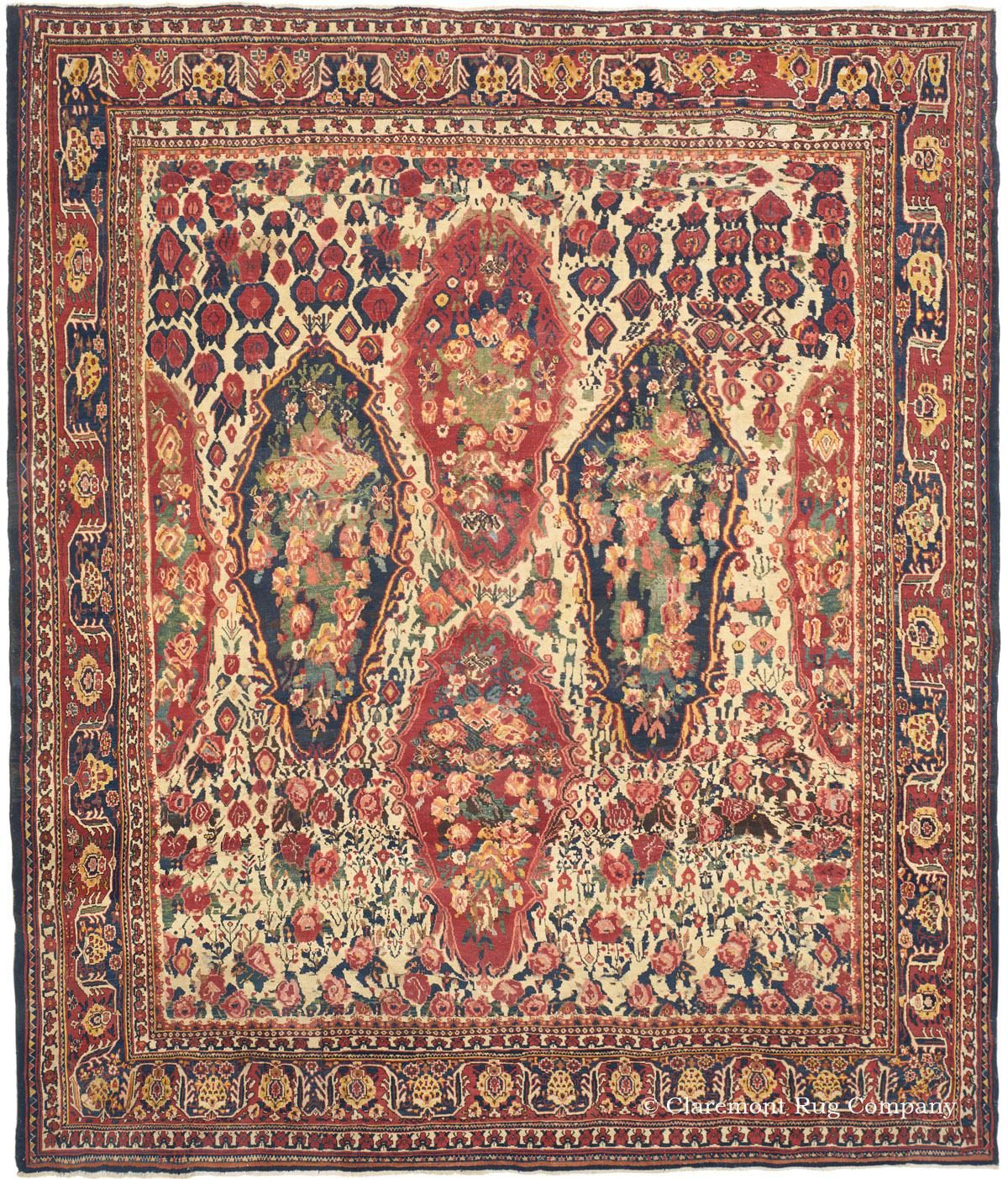 Bakhtiari Central Persian 10ft 3in X 12ft 5in 3rd Quarter 19th Century Antique Persian Carpet Rugs On Carpet Antique Rugs Persian Carpet