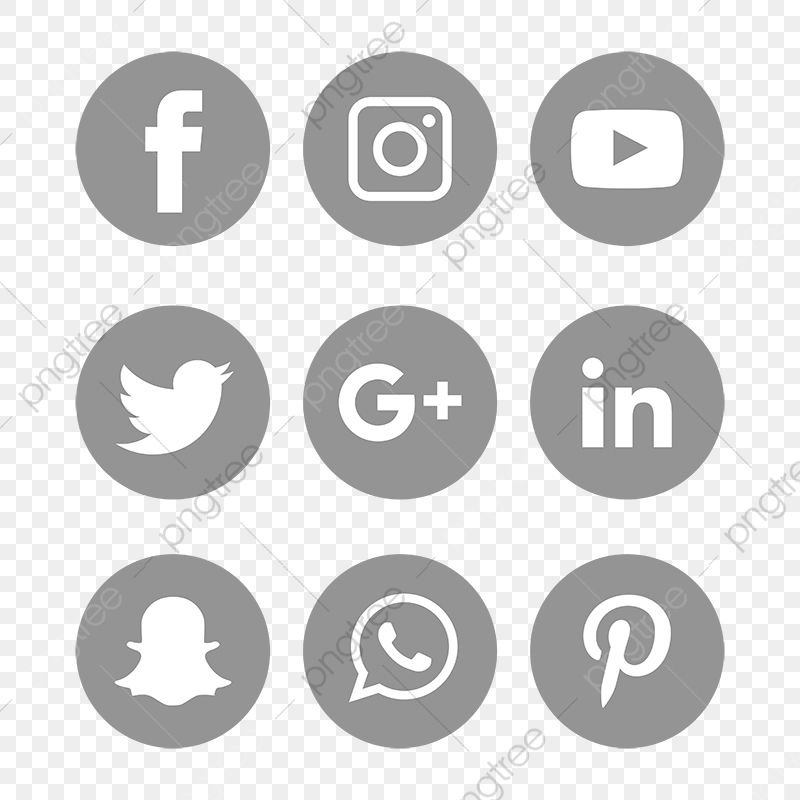 Social Media Icons Set Logo Vector Illustrator Social Icons Logo Icons Media Icons Png And Vector With Transparent Background For Free Download Social Media Icons Free Social Icons Social Media Icons