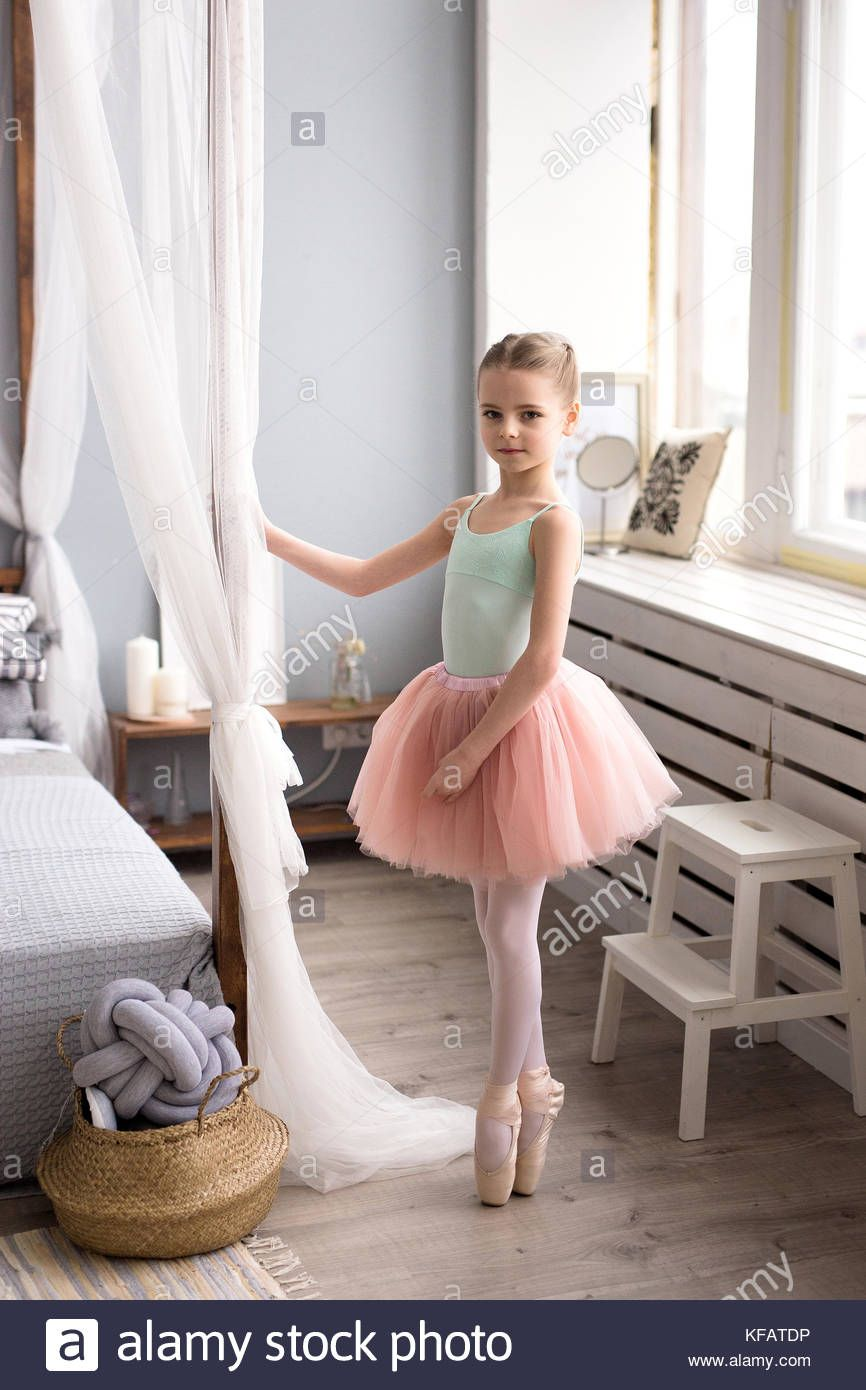 79d07e35e Download this stock image: Cute little ballerina in pink ballet ...