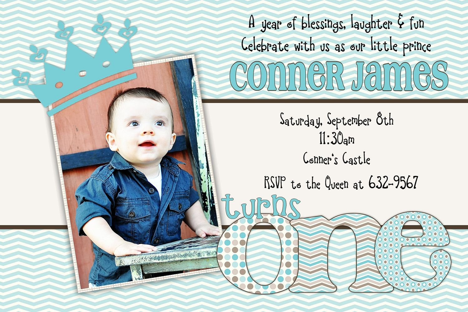 Little Prince Birthday One First 1st Birthday Invitation Etsy In 2021 Prince Birthday Invitations 1st Boy Birthday 1st Birthday Invitations