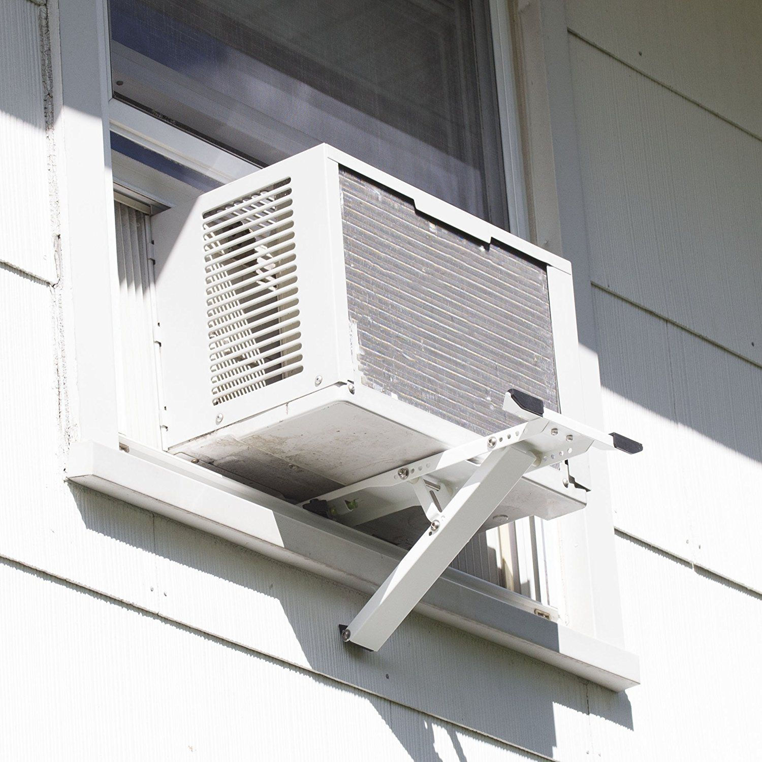 Amazon Com Universal Heavy Duty Window Air Conditioner Ac Support Bracket Up To 165 Lbs Designed For 10 000 To Window Air Conditioner Air Conditioner Design
