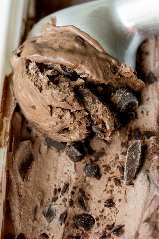 Rich and chocolatey ice cream - don't need an ice cream maker!