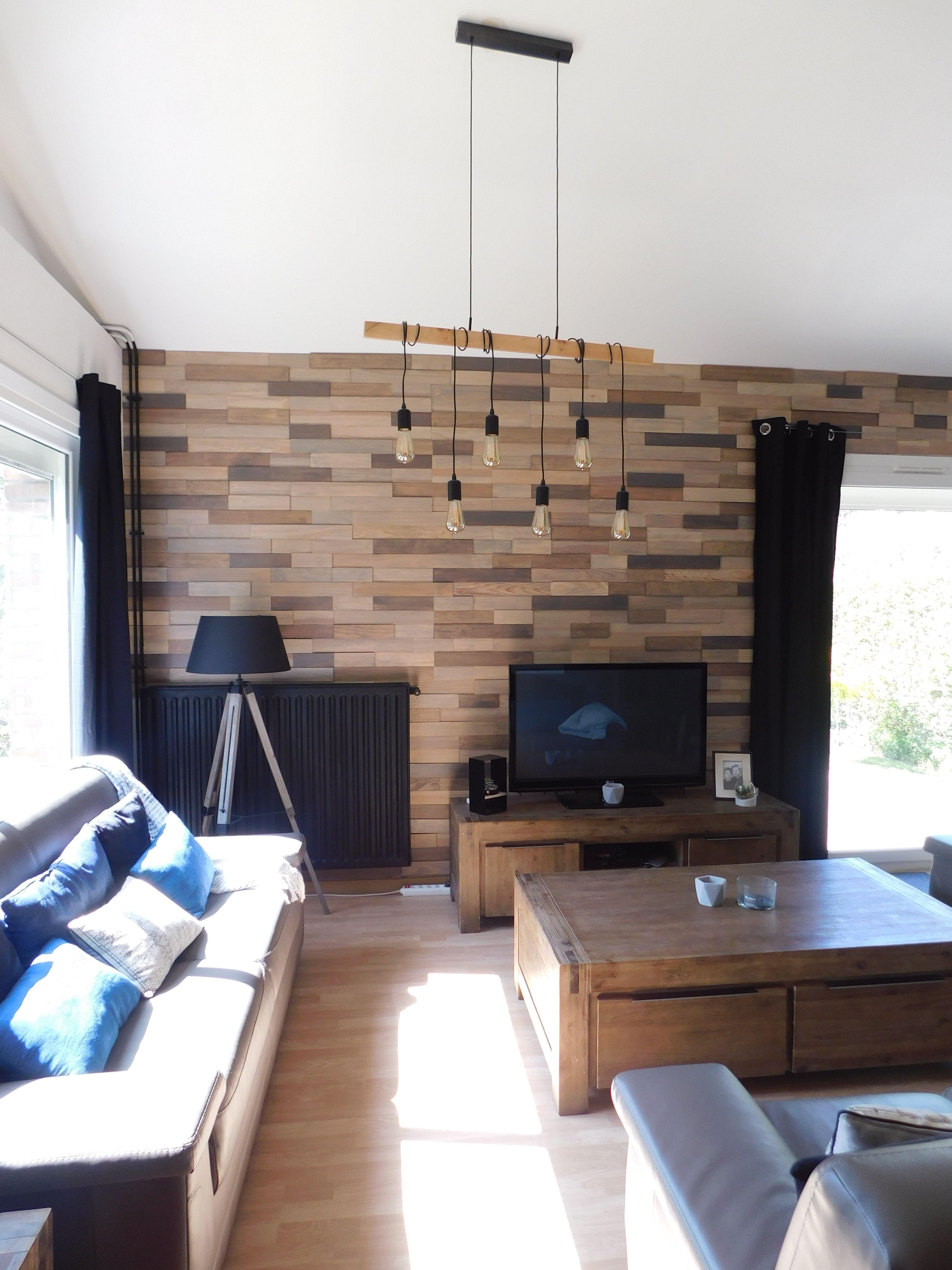 Mur En Parement Salon salon industriel, chaleureux, lumineux, revêtement mur béton
