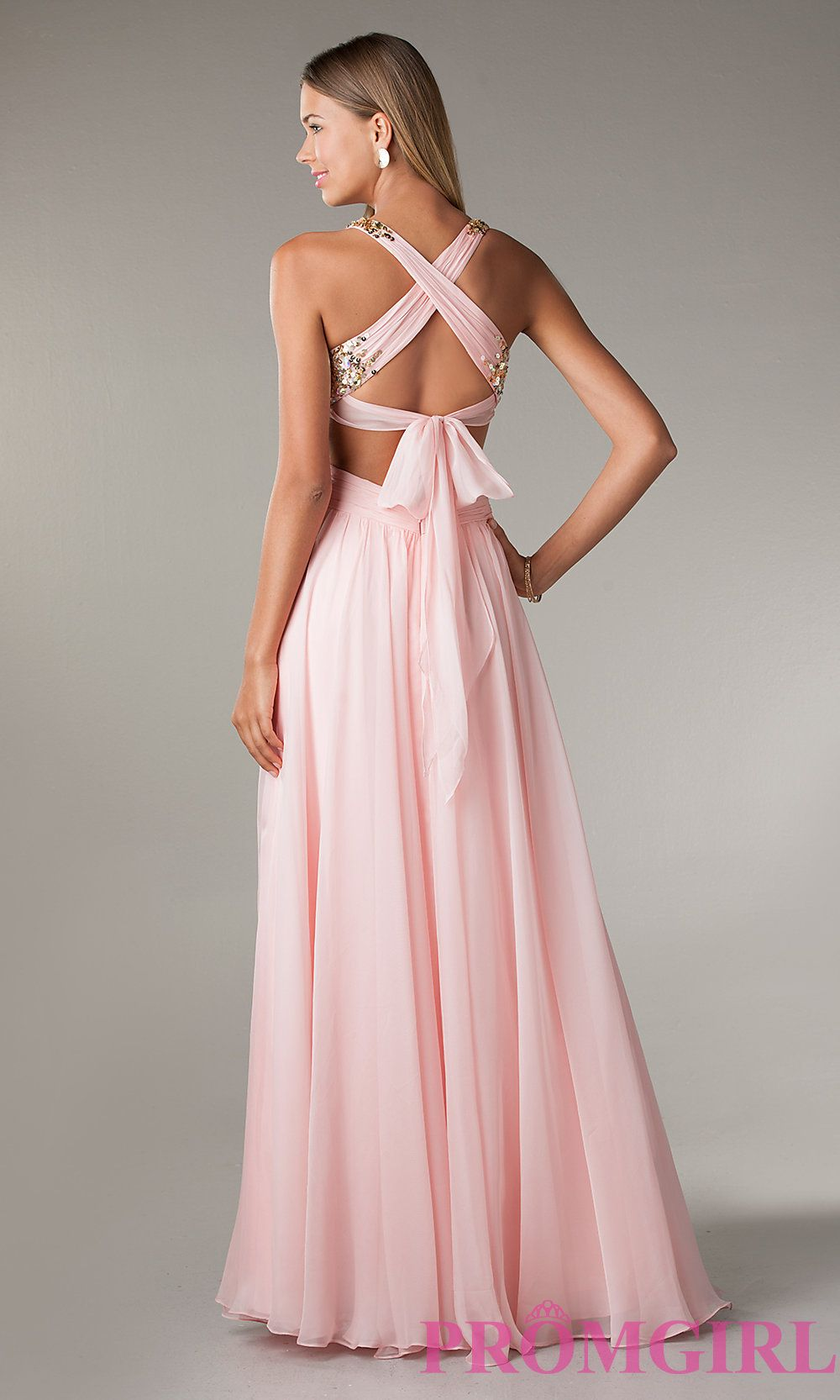 Long Cut Out Prom Dresses, Flirt Long Gowns for Prom- PromGirl ...
